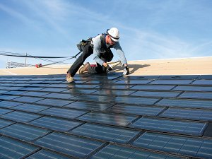 Powerhouse solar shingle developed by Dow Chemical