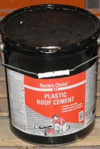 plastic roofing cement